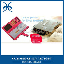 multifunctional name card holders money clip folding pu card holder large capacity for credit card holders on discount