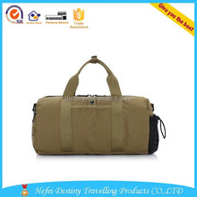 wholesale tote zipper promotional cheap big brown travel bags