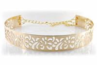 fashion ladies gold metal belt