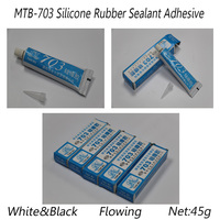 White Flowing RTV Silicone Rubber Adhesive for PCB,LED,Heatsink