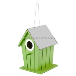 XFWD-11030 Green Hanging Wooden Bird House