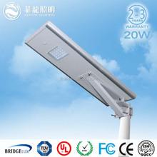 outdoor ip65 waterproof solar 20w led street light