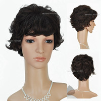 Beauties Factory Natural Style Synthetic Short Wave / Curly Full Hair Wig 1917K