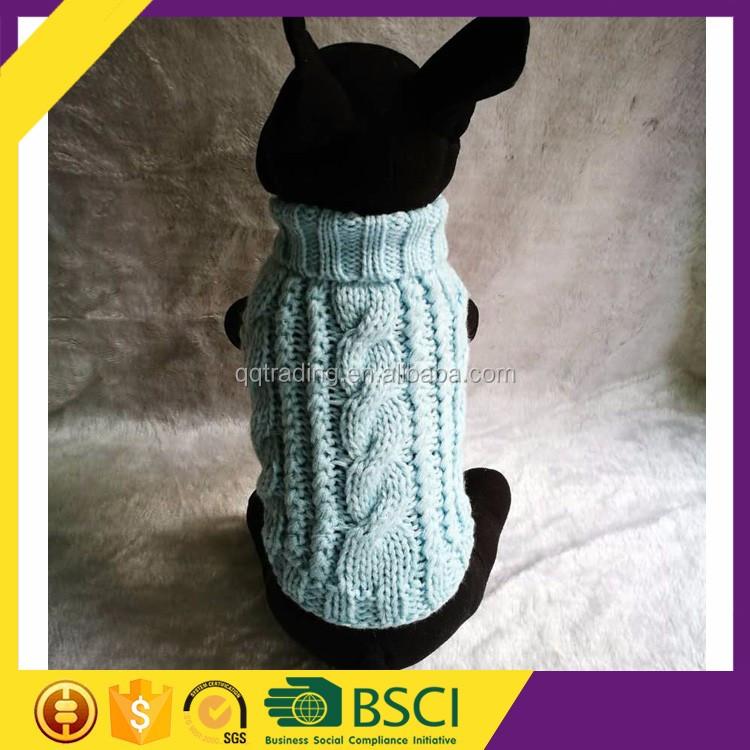 Mangas cable mano crochet knit fácil pequeño perro suéter Knitting ...