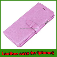 crossing grain leather case cover for iphone 6 4.7 mobile phone case accessories