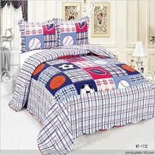 Hot sale cheaper export baby cartoon print bed sheet designs quilt cover set