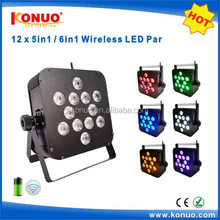 Konuo Pro led stage lighting 12x12W 6in1 battery operated wireless led par can