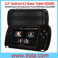 Best Price 4.3 inch Handheld Android Game Console with RK3028 Dual Core Android 4.2 OS