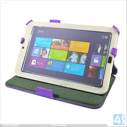 Heat Pressing Hand-Hold Leather Case with pen slot for Acer Iconia W3 P-ACERW3CASE003