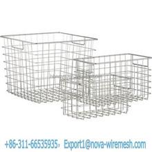 Storage basket stacking wire mesh cage