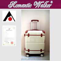 High quality 2015 New fashion manufacturer OEM welcome PC classical eminent trolley luggage