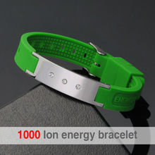 Promotion Fitness Sport Magnetic Silicone Bio Balance Bracelet