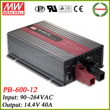 Meanwell lead acid battery charger 14.4v 40A PB-600-12