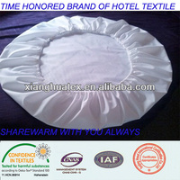 100% cotton white plain hotel fitted sheet