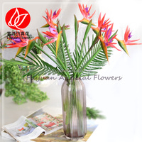 150655 factory direct Cheap wholesale home decor artificial bird of paradise stem