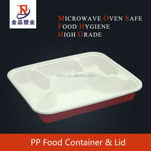 wholesale recyclable plastic pp lunch box with clear lids