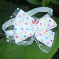 C005 Pet Bow Tie Cat and Dog White Collar Reflective Material Mesh Beautiful Design Drop Shipping
