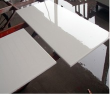 Pure white nano glass marble, white artificial marble floor tiles