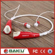 2015 BAKU new design apt-X stereo bluetooth earphone BK-830 for smart phone