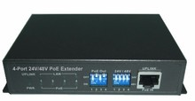 YODA PE104S 4 Port 10/100Mbps PoE IEEE 802.3at af Extender Metal case