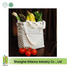 Calico Shoulder Promotional Bags , Plain White Cotton Canvas Tote Bag