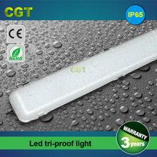 LED waterproof tube tri proof light fluorescent tube 1200mm 4FT 40W 50W 60W IP65 CE Rohs