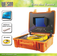Witson 10inch monitor real color video sewer pipe inspection camera(W3-CMP3188DN-J-10M)