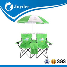 Fold Up Beach Picnic Camping Gardening Table Cooler Double Folding Chair with Umbrella