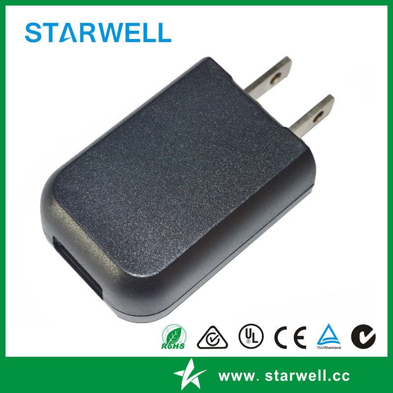 DCTE050100 5V USB power adapter EU US plug available 5V 1A power adapter