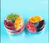 hot sale clamshell disposable plastic fruit salad tray packaging