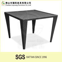 Waterproof and Sunproof Plastic PE Rattan Wicker Dining Tables Durable Dining Room Furniture Patio Dining Furniuture Cheap Table