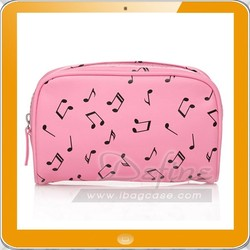 Suction eye metallic note pattern pu leather hot popular cosmetic bag