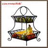 good quality!black powder coated metal fruit basket