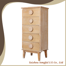 With many drawers tall thin wooden storage cabinet