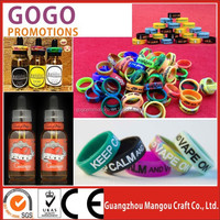 China Supplier Colorful Vape Band Silicone E cig Mod Beauty Ring with Best Price, sillicon vape band for tank mod accessories