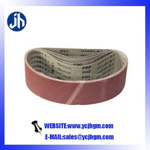 alumina sanding belt grinding of metal