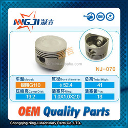 Chinese Motorcycle and scooter piston set Yinxiang G110 OEM Quality