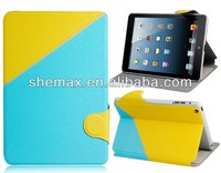 Color Block Faux Leather Flip Case with Card Slots for iPad Mini .Alibaba China Suppliers