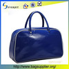 Fashionable Large Blue Color Pu Leather Duffel Bag travel time bag