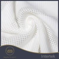 Good quality organza stripe check 100% polyester fabric