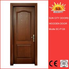 Fancy wooden double entrance door design C-W128