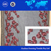 Beatiful flower organza embroidered fabric for curtain