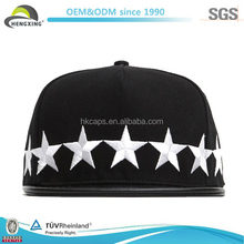Hengxing Star Raised Embroidery Crazy Design Hats Black Snapback
