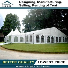 2015 Unique luxury beautiful roof for party tents with linings and curtains for 300 people for sale
