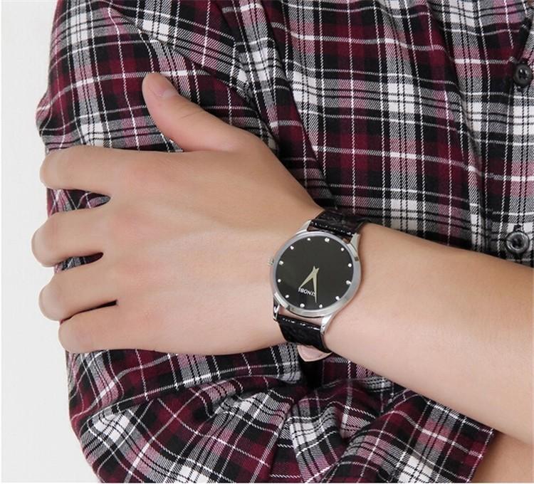 Đồng hồ nam dây da Sinobi T0619C