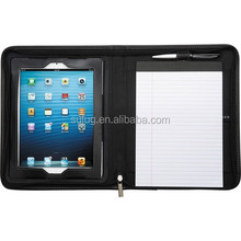 Leather portfolio ,briefcase with notepad holder,leather portfolio case for ipad air