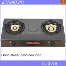 Kitchen appliance 2 burners teflon gas stove