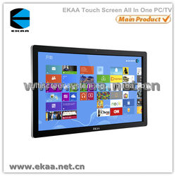 EKAA new design 55inch IR multi touch screen monitor /touch interactive panel all in one keyboard pc for office meeting room
