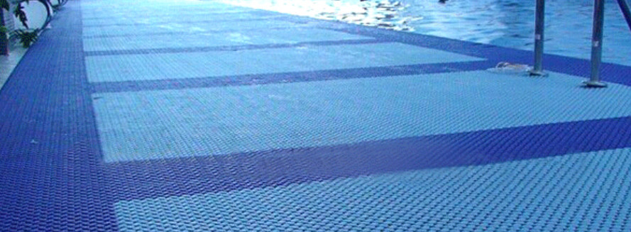 Anti slip swimming pool rubber mats outdoor flooring for for Garden pool mats
