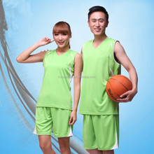 100% polyester breatheable Custom Wholesale cheap basketball suits team outdoor